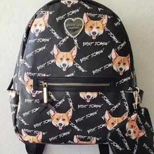 NWT Betsey Johnson Welsh Corgi Backpack